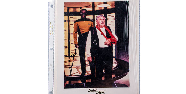 Autograph of James Doohan who played Scotty in Star Trek