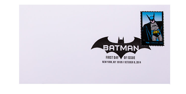 Stamp USPS Batman First Day of Issue October 2014