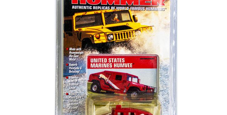 Johnny Lightning Hummer  USMC Parade Hummvee