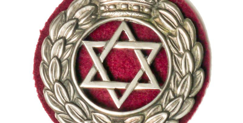 Jewish Brigade officer cap badge