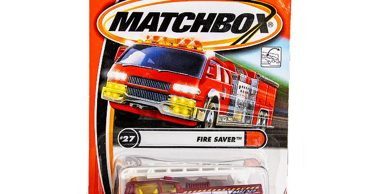 Matchbox Cars Fire Saver Truck Marked 2000