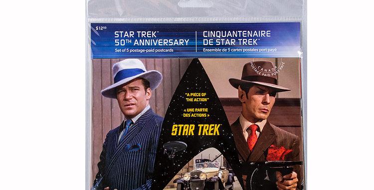 copy of Canada Post Star Trek Stamps  set of 5 postcards