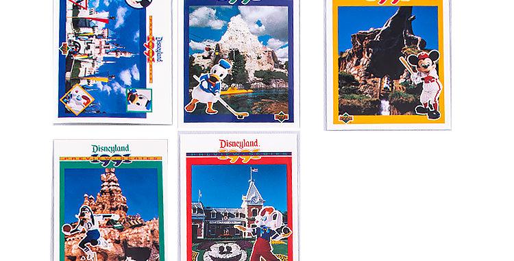 Disneyland 1991 Upper Deck Cards set of 5