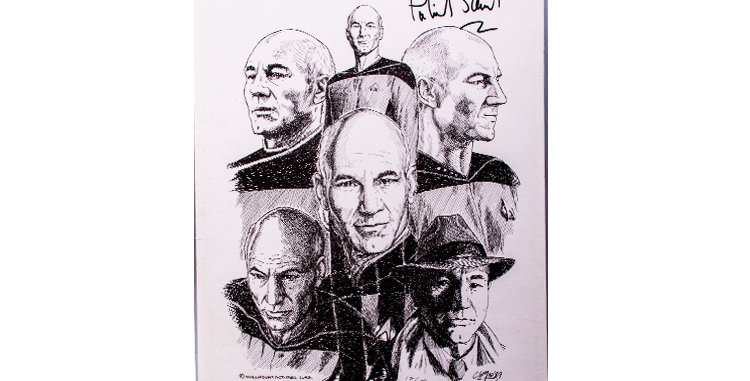 Autograph of Patrick Stewart who played Capt. Picard in Star Trek