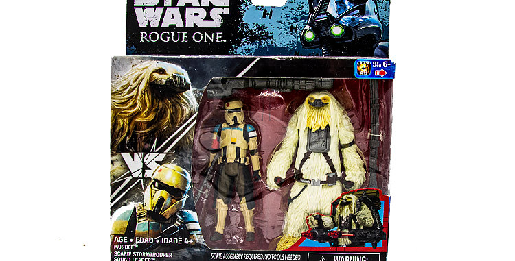 3.75 Inch 2 pack Scarif Stormtooper Leader, Morofe Rouge One