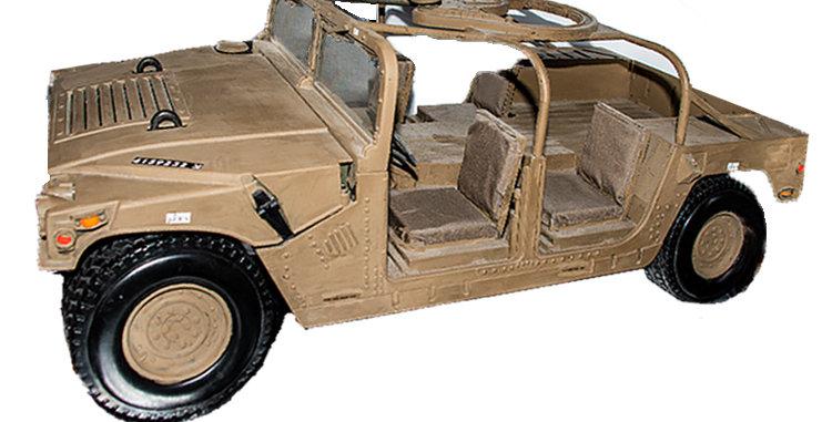 GI Joe  12 Inch Custom IDF Humvee Tank Hunter One of a kind