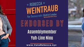 🚨 AssemblymemberYuh-Line Niou Endorses Rebecca 🚨
