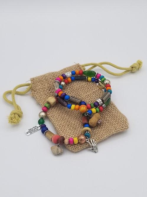 Multi-color #RockofHope bracelet