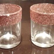 Rose gold accent vases