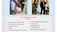 Tiny Weddings ◆ Affordable ◆ Intimate ◆ Elegant