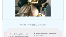 Private Tiny Weddings!