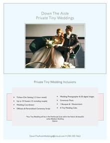 Private Tiny Weddings!