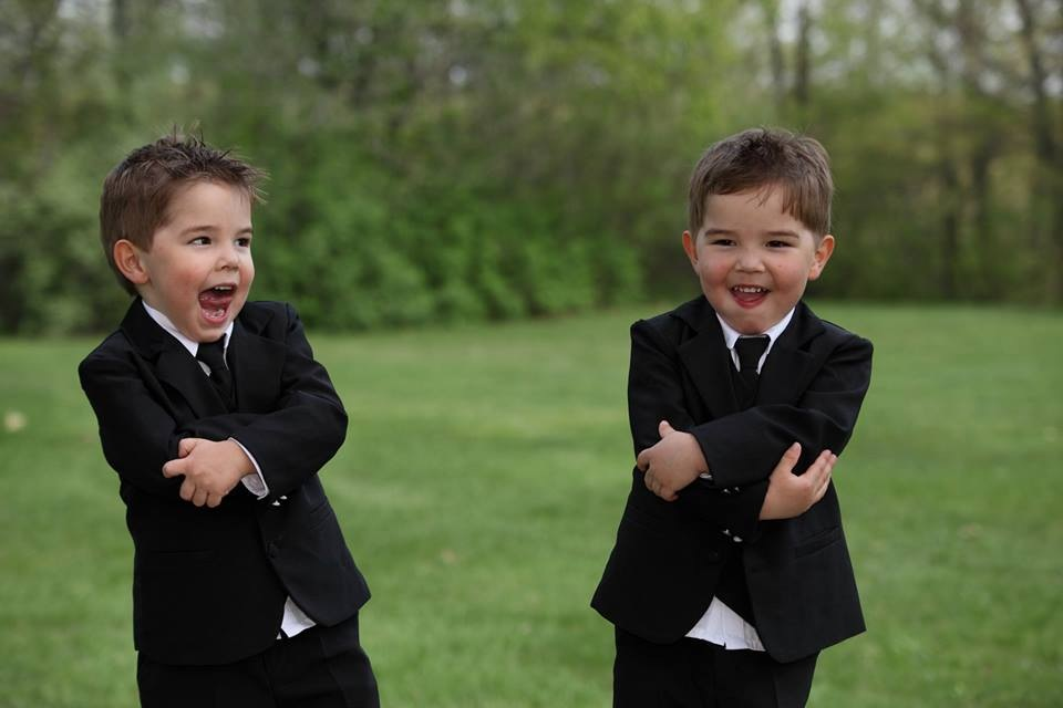 Double Trouble ring bearers!