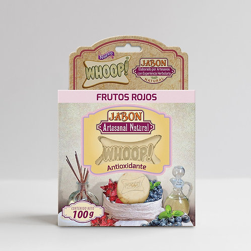 Whoop! Jabón Artesanal Natural de Frutos Rojos