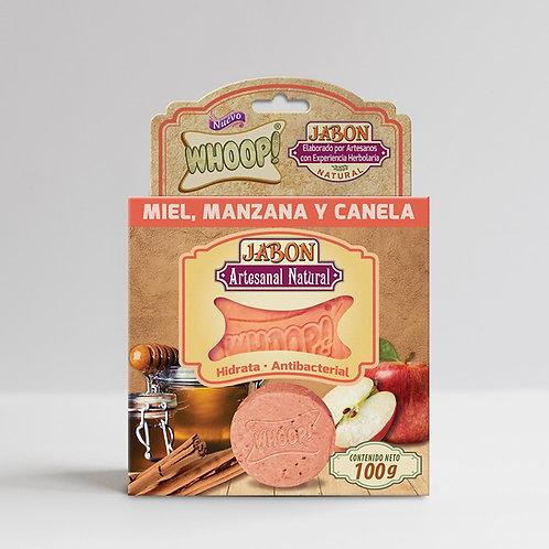 Whoop! Jabón Artesanal Natural de Miel, Manzana y Canela