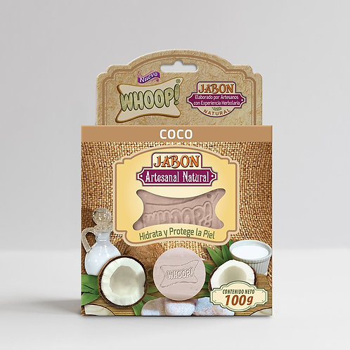 Whoop! Jabón Artesanal Natural de Coco