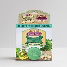 Whoop! Jabón Natural Artesanal de Menta y Hierbabuena