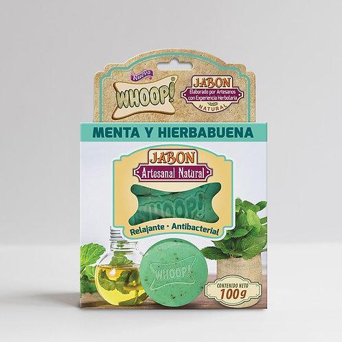 Whoop! Jabón Artesanal Natural de Menta y Hierbabuena
