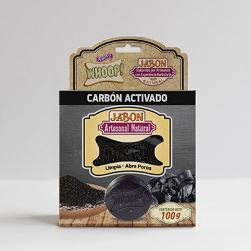 Whoop! Jabón Artesanal Natural de Carbón Activado