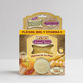 Whoop! Jabón Natural Artesanal de Platano, Miel y Vitamina E
