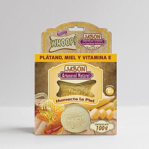 Whoop! Jabón Artesanal Natural de Plátano, Miel y Vitamina E