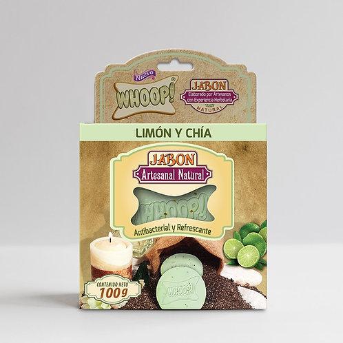 Whoop! Jabón Artesanal Natural de Limón y Chía