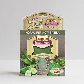 Whoop! Jabón Natural Artesanal de Nopal, Pepino y Sábila