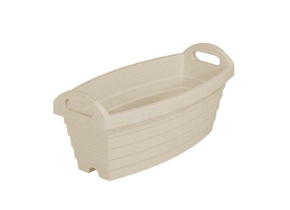 Slim Barrel Planter Pod 500 (Ivory)