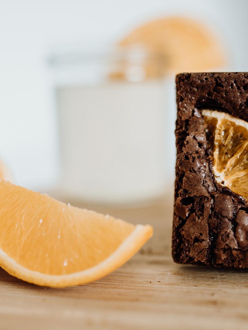 pomerančové brownies