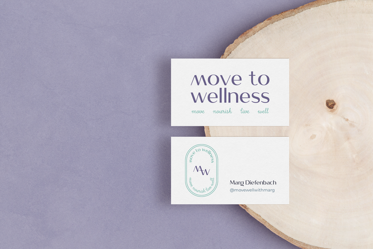 Move to Wellness Logo Set Design by Ashley at Logodentity