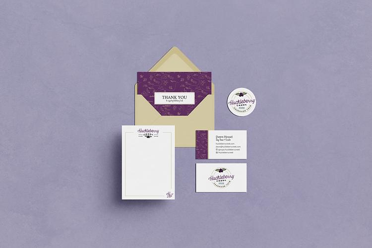 Huckleberry Creek Stationery Mockup - Logodentity purple.png