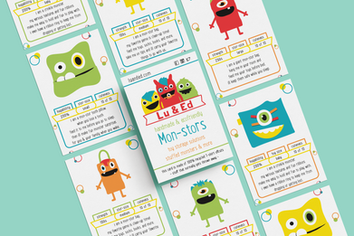 Monster Trading Cards designed for Lu & Ed