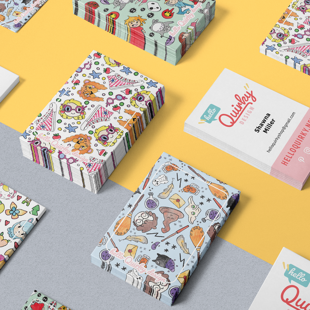 Hello Quirky Biz Card Designs Mockup.png