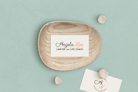 Angela Han Logo Submark Design
