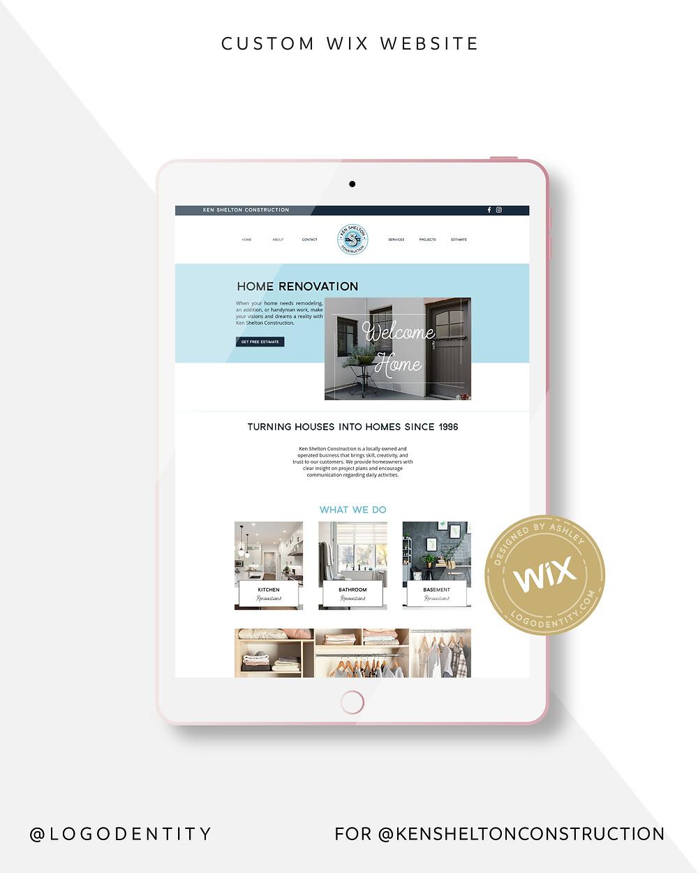Ken Shelton Construction Website
