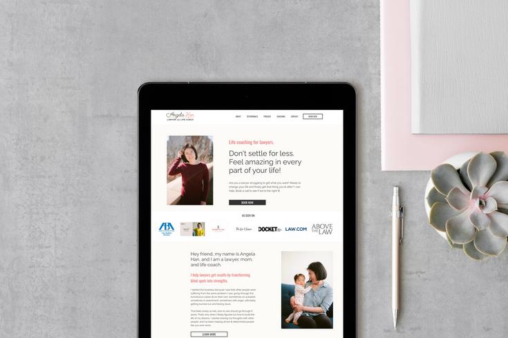 Angela Han's Website Design by Ashley at Logodentity