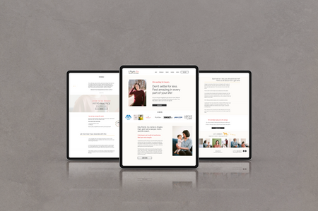 Website Design for Angela Han by Ashley at Logodentity