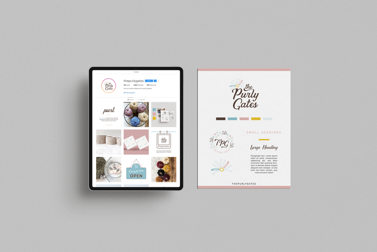 The Purly Gates Social Media & Brand Design by Ashley at Logodentity