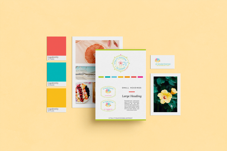 Vitality Success Blueprint Brand Design by Ashley at Logodentity