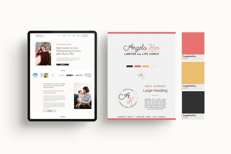 Angela Han's Website & Branding Design by Ashley at Logodentity