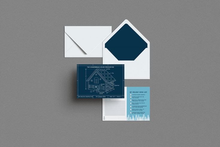 Ken Shelton Construction Holiday Cards Designed by Ashley at Logodentity