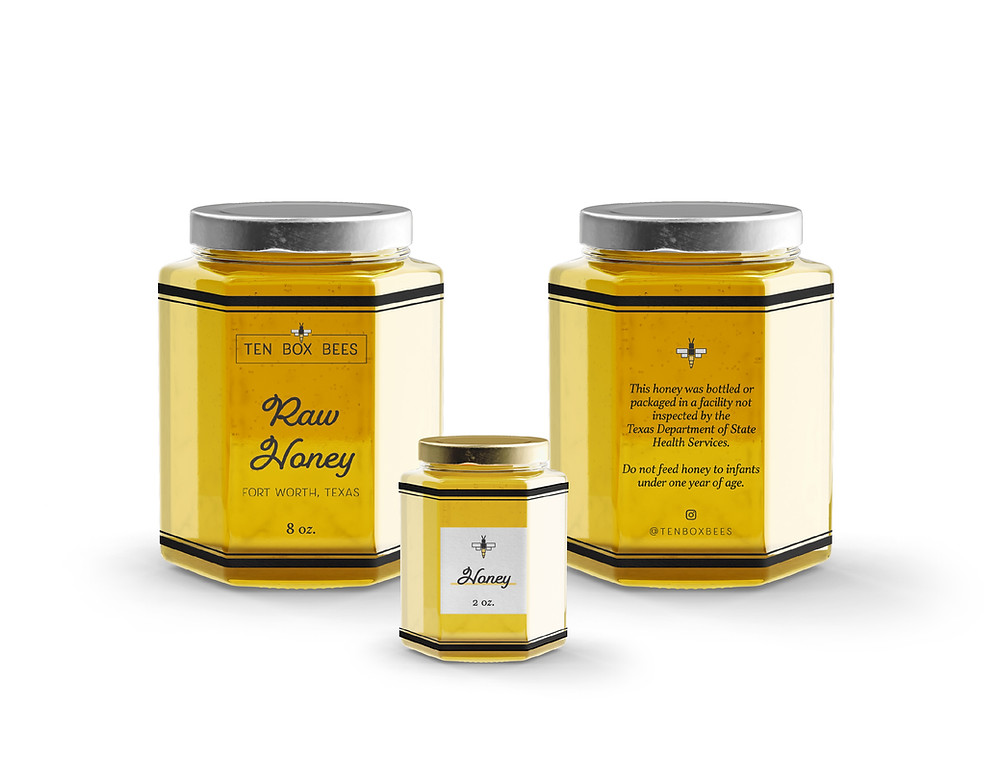Ten Box Bees Honey Labels designed by Logodentity