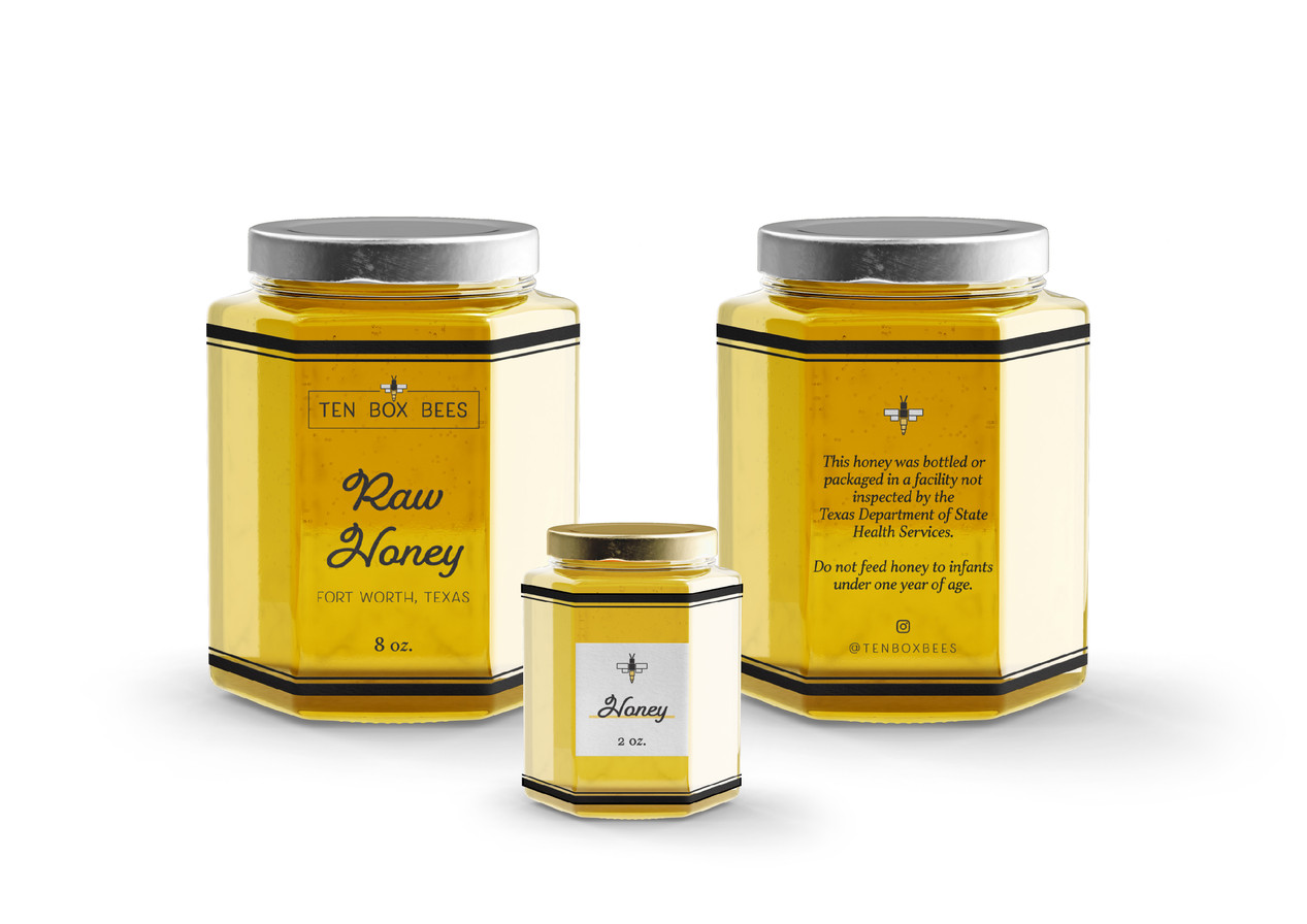 Ten Box Bees Label Design by Logodentity