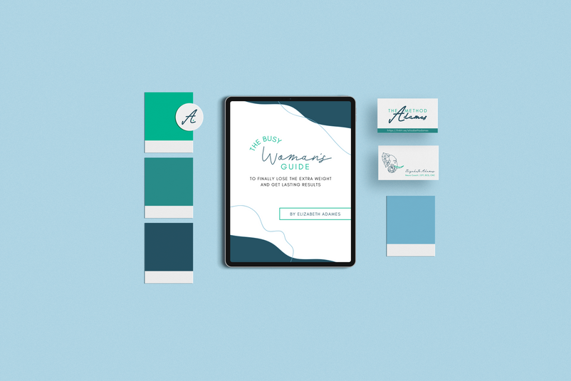 The Adames Method Brand & Collateral Design by Ashley at Logodentity