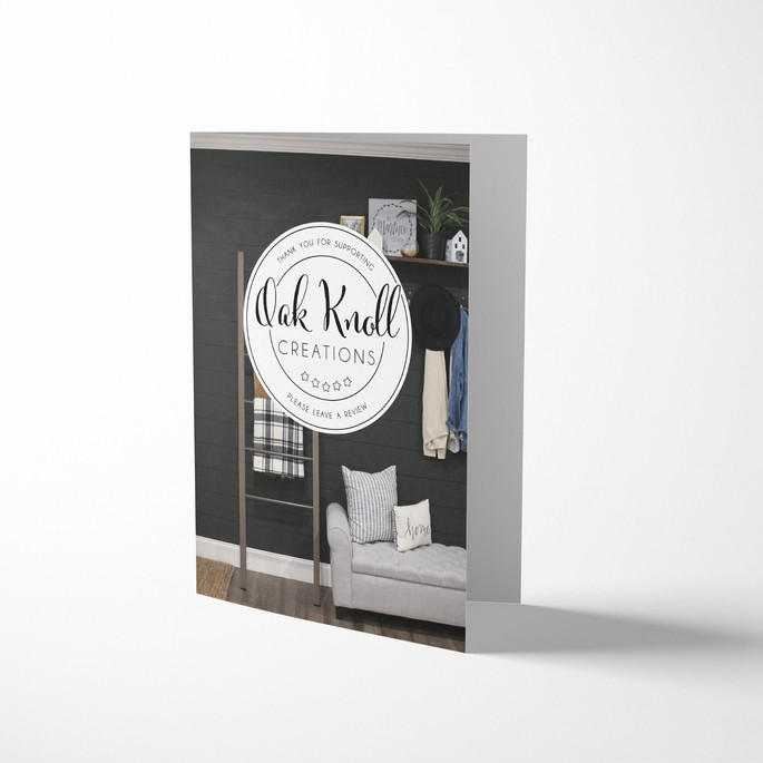 oak knoll thank you card Design by Logodentity