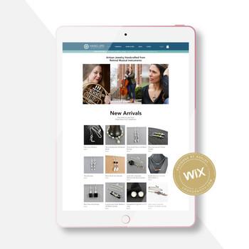Hang Ups Jewelry: Custom Wix Website Design Project