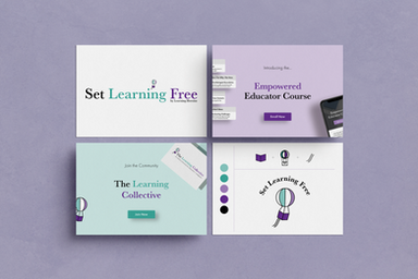Set Learning Free Coaching Course Brand Design