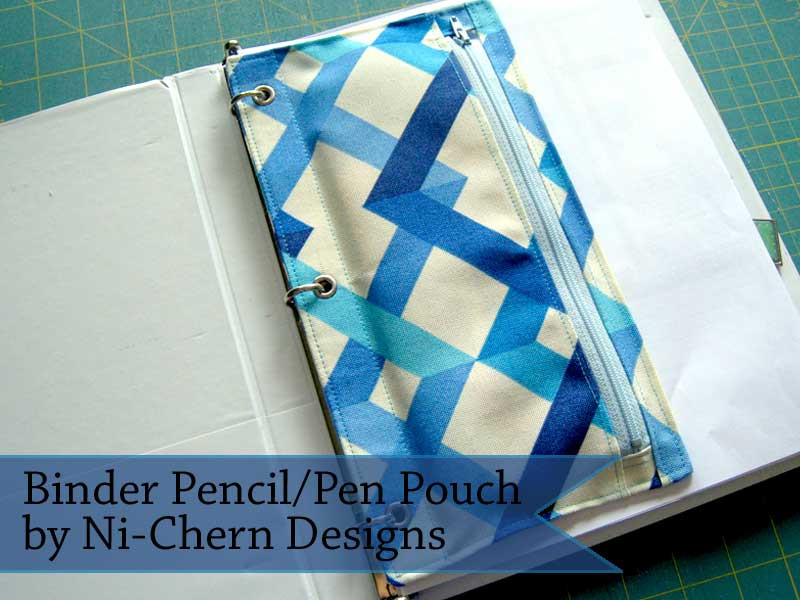 Binder Pencil Pouch Tutorial