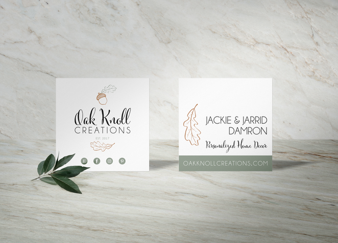 Oak Knoll Business Card Design by Logodentity