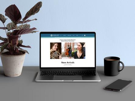 Hang Ups Jewelry Website Design